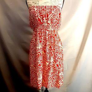 Aloha Hut Hawaii strapless red&white dress